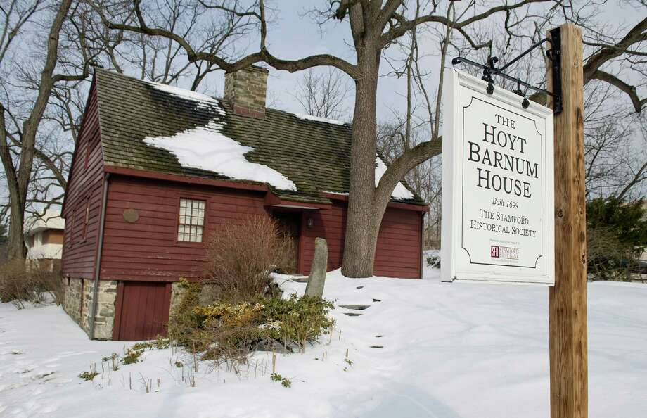 The Hoyt Barnum House, built in 1699, would be moved to a new location if the proposal to build a new police headquarters next to the current building is approved. Photo: Lindsay Perry / Stamford Advocate