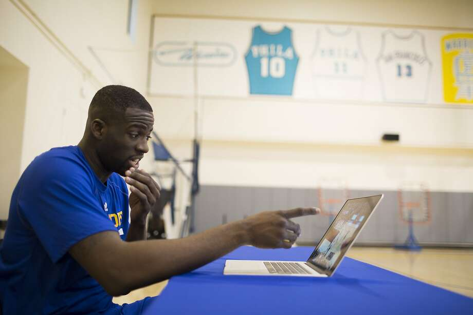 Draymond Green's ability to break down game video — understanding all the elements of a play — is something he learned from coach Tom Izzo while playing at Michigan State for four years. Photo: Tim Hussin, Special To The Chronicle