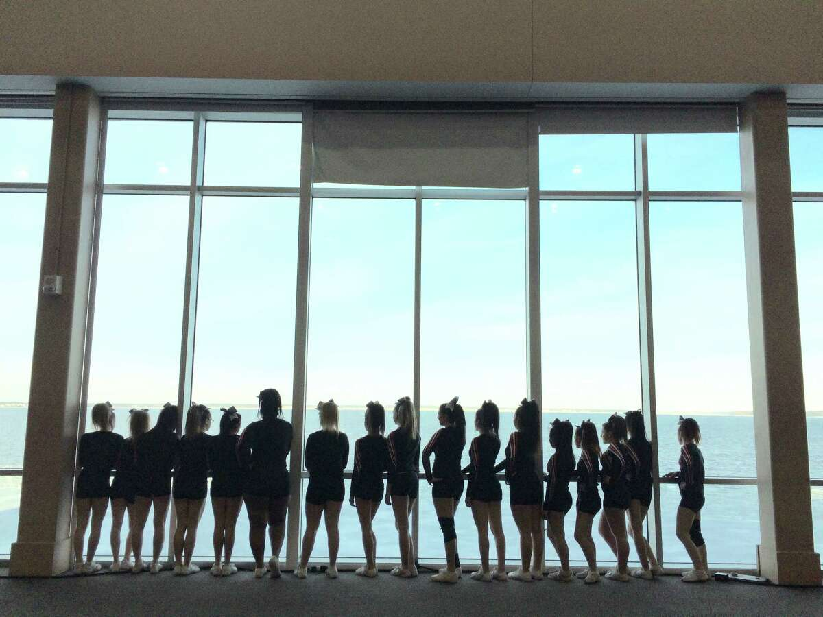 Photo provided Mohanasen Varsity Cheerleaders participated in a competition in Ocean City, Md. and gathered for this scenic team photo.