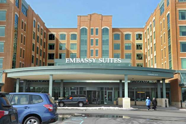 The Embassy Suites Hotel in downtown Saratoga Springs opened March 5 for its first guests following 18 months of construction at the site of the former Grand Union Supermarket on Congress St. Read more. Photo: Lori Van Buren / 00030973A