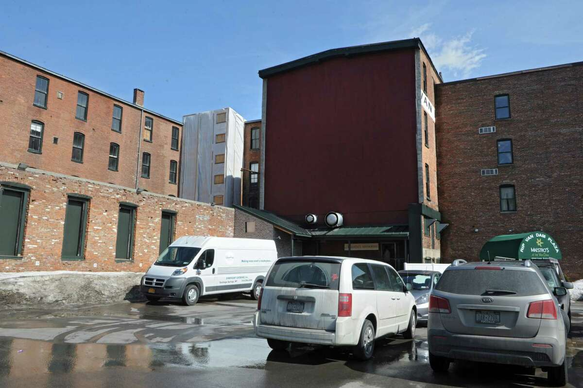 Exterior of the rear of Adelphi hotel and Rip Van Dam where construction is underway on Broadway on Wednesday, March 11, 2015 in Saratoga Springs, N.Y. (Lori Van Buren / Times Union)