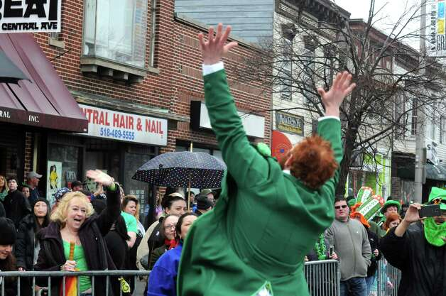 Revelers pack the corner of Ouail Street and Central Avenue during the 65th Annual Albany St. Patrick's Day Parade on Saturday March 14, 2015 in Albany, N.Y.  (Michael P. Farrell/Times Union) Photo: Michael P. Farrell / 00030751A