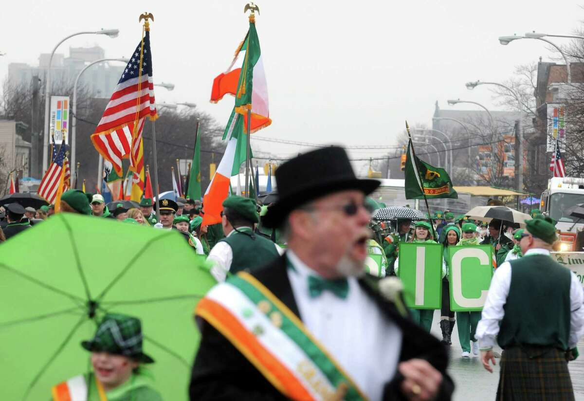 The 65th Annual Albany St. Patrick's Day Parade makes its way down Central Avenue on Saturday March 14, 2015 in Albany, N.Y. (Michael P. Farrell/Times Union)