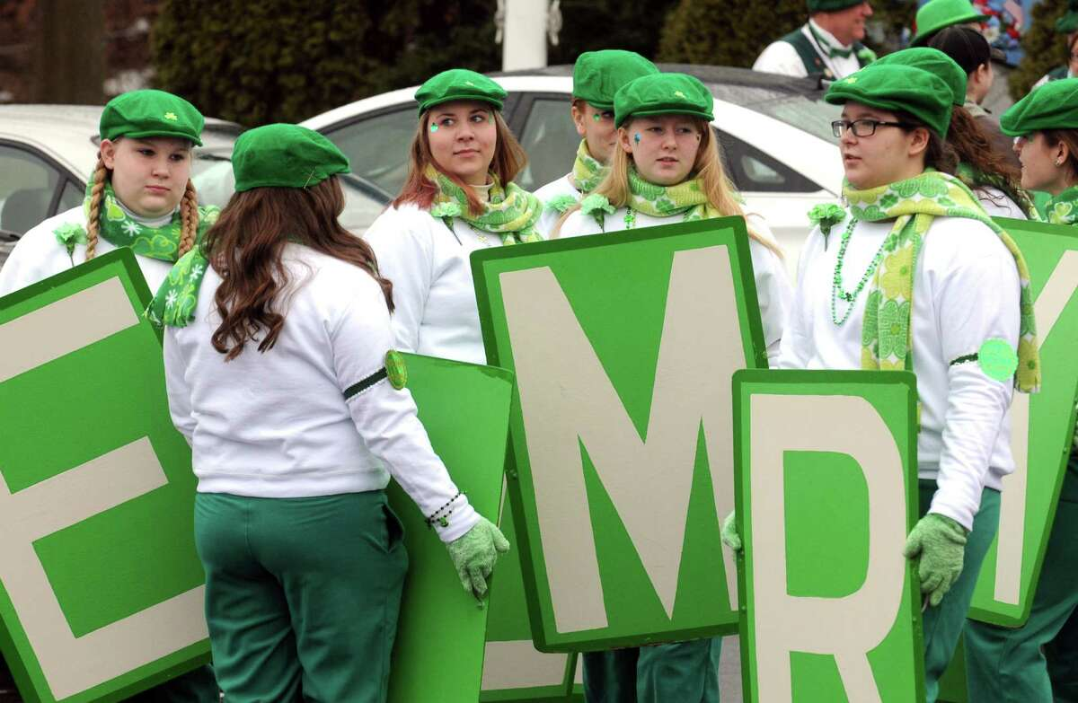 Member of the Limericks gather to take part in the North Albany Limerick St. Patrick's Day Parade on Saturday March 14, 2015 in Albany, N.Y. (Michael P. Farrell/Times Union)