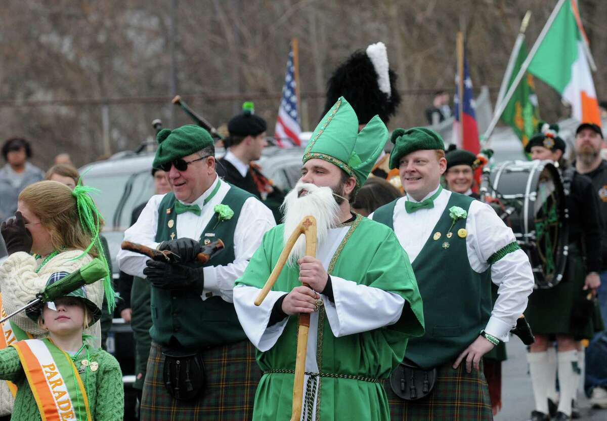 Marchers take part in the North Albany Limerick St. Patrick's Day Parade on Saturday March 14, 2015 in Albany, N.Y. (Michael P. Farrell/Times Union)