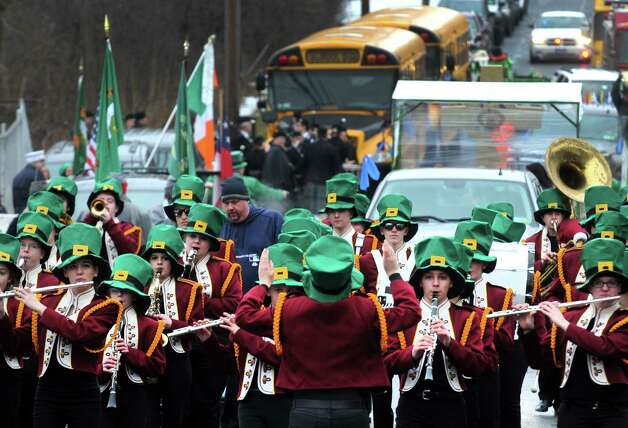 The Fonda-Fultonville Marching Band take part in the North Albany Limerick St. Patrick's Day Parade on Saturday March 14, 2015 in Albany, N.Y.  (Michael P. Farrell/Times Union) Photo: Michael P. Farrell / 00030751A