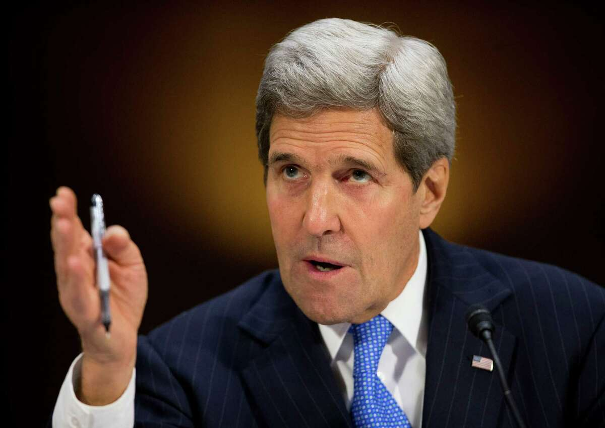 In this March 11, 2015, photo, Secretary of State John Kerry testifies on Capitol Hill in Washington, before the Senate Foreign Relation Committee. Republicans hammering the Obama administration about nuclear talks with Iran are accusing President Barack Obama of being so keen to strike a deal that he?'s ignored Iranian moves to expand its influence across the Middle East. (AP Photo/Pablo Martinez Monsivais) ORG XMIT: WX102