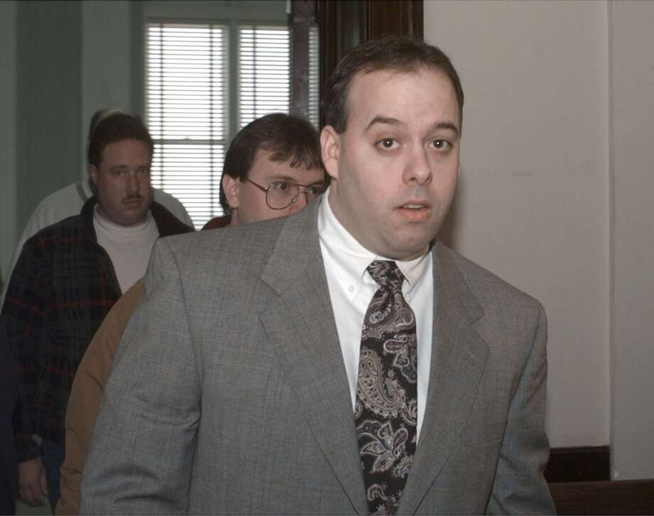 Albany police officer William Bonanni exits Albany County Court in Albany, Monday, March 22, 1999, in Albany, N.Y. (Michael P. Farrell) Photo: Michael P. Farrell / TIMES UNION