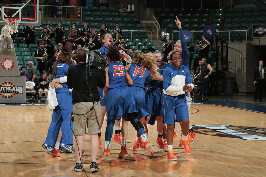 Houston Baptist, which upset Stephen F. Austin in the Southland semifinals, hopes there is more to celebrate after today's final against Northwestern State. Photo: Rick Yeatts, Contributor / 2015 Rick Yeatts