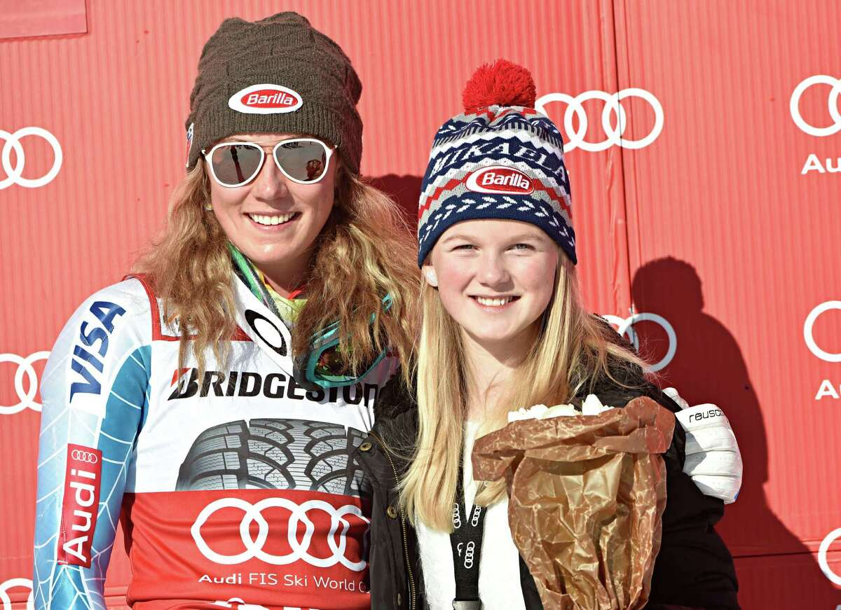 ARE, SWEDEN - MARCH 14: (FRANCE OUT) Mikaela Shiffrin of the USA takes 1st place during the Audi FIS Alpine Ski World Cup Women's Slalom on March 14, 2015 in Are, Sweden. (Photo by Nisse Schmidt/Agence Zoom/Getty Images) ORG XMIT: 513437737