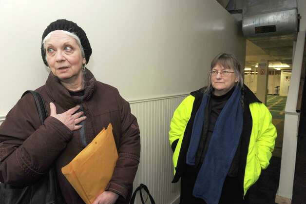 Jeanne Finley, left, and Lynne Jackson at the Masjid As Salam mosque on Tuesday, March 3, 2015, in Albany, N.Y.  (Michael P. Farrell/Times Union) Photo: Michael P. Farrell / 00030830A