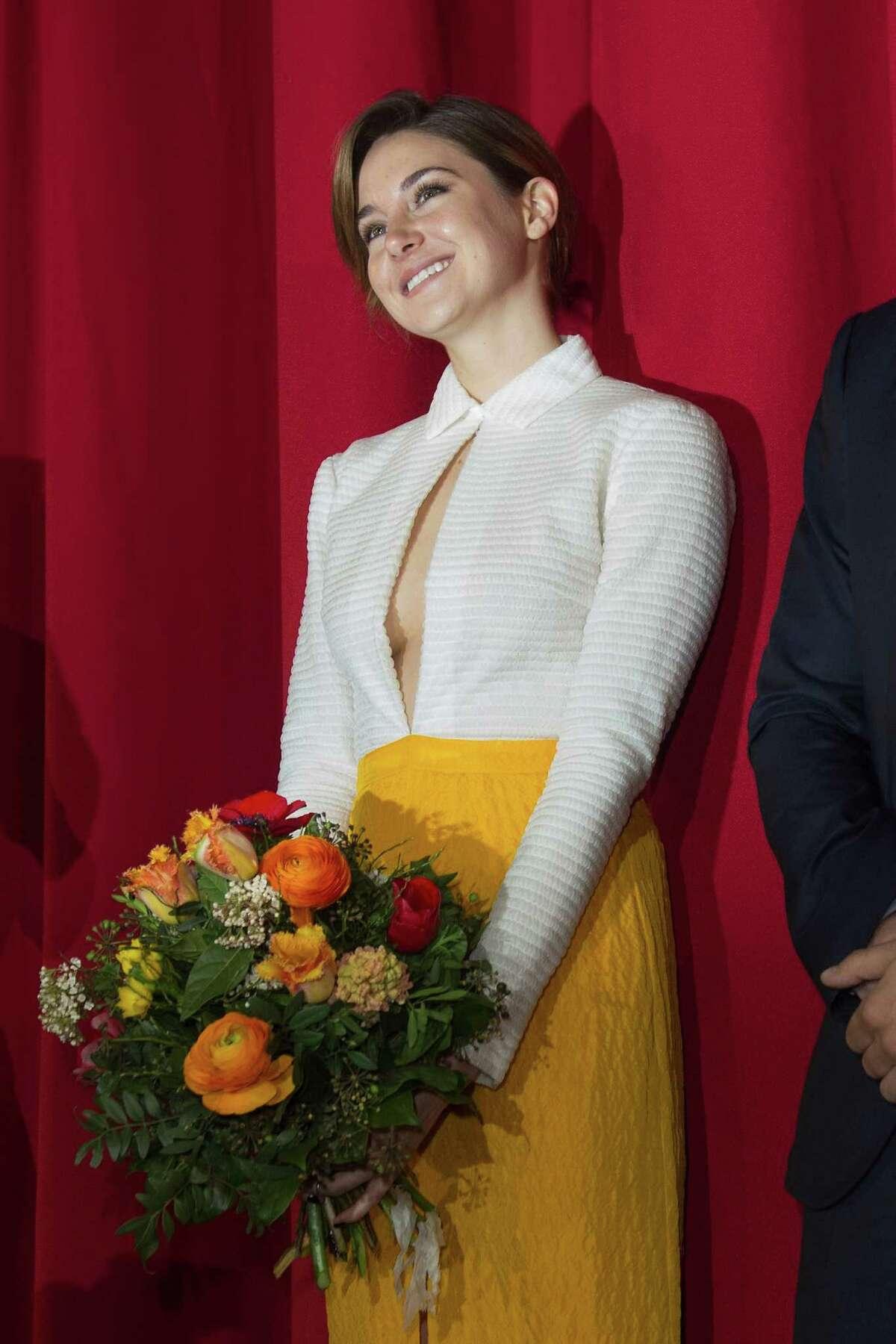 Actress Shailene Woodley attends the German Premiere of 'Die Bestimmung - Insurgent' at CineStar on March 13, 2015 in Berlin, Germany. (Photo by Target Presse Agentur Gmbh/WireImage)