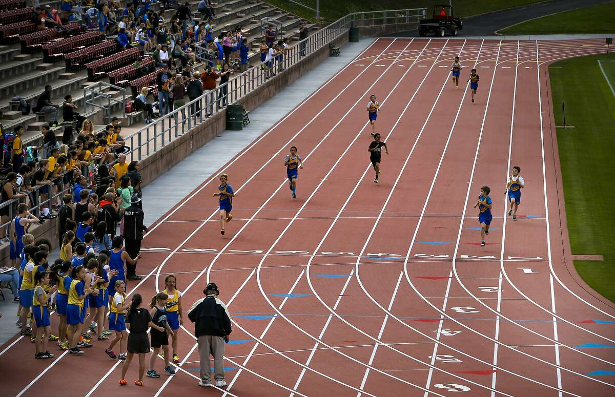 Middle schoolers from Roosevelt, Rooftop, Lawton and San Francisco Community are the first to battle it out, as Kezar Stadium officially reopened with a newly renovated track in San Francisco, Calif., as seen on Fri. March 13, 2015