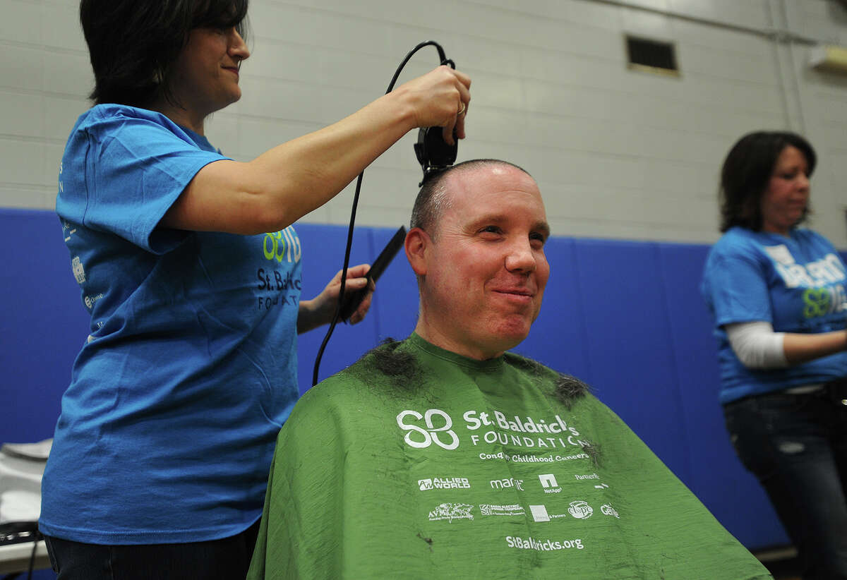 Brave the Shave St. Baldrick's fundraiser at Bunnell High School in Stratford, Conn. on Sunday, March 15, 2015. St. Baldrick's events raise money in support of childhood cancer research.