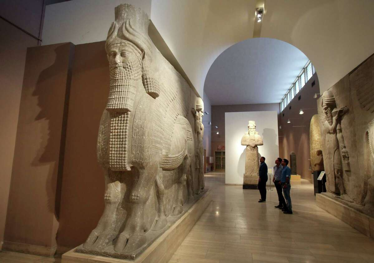 Iraqi National Museum sees big turnout by Iraqis eager to see artifacts after re-openning in the wake of demolishing key Assyrian archaeological sites in Islamic State-held city of Mosul by the extremists. in Baghdad, Iraq, Sunday, March 15, 2015.