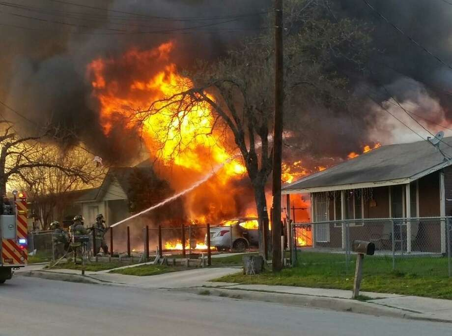 More than 40 firefighters were called to a house fire on the South Side Sunday evening. Photo: Courtesy Summer Perales