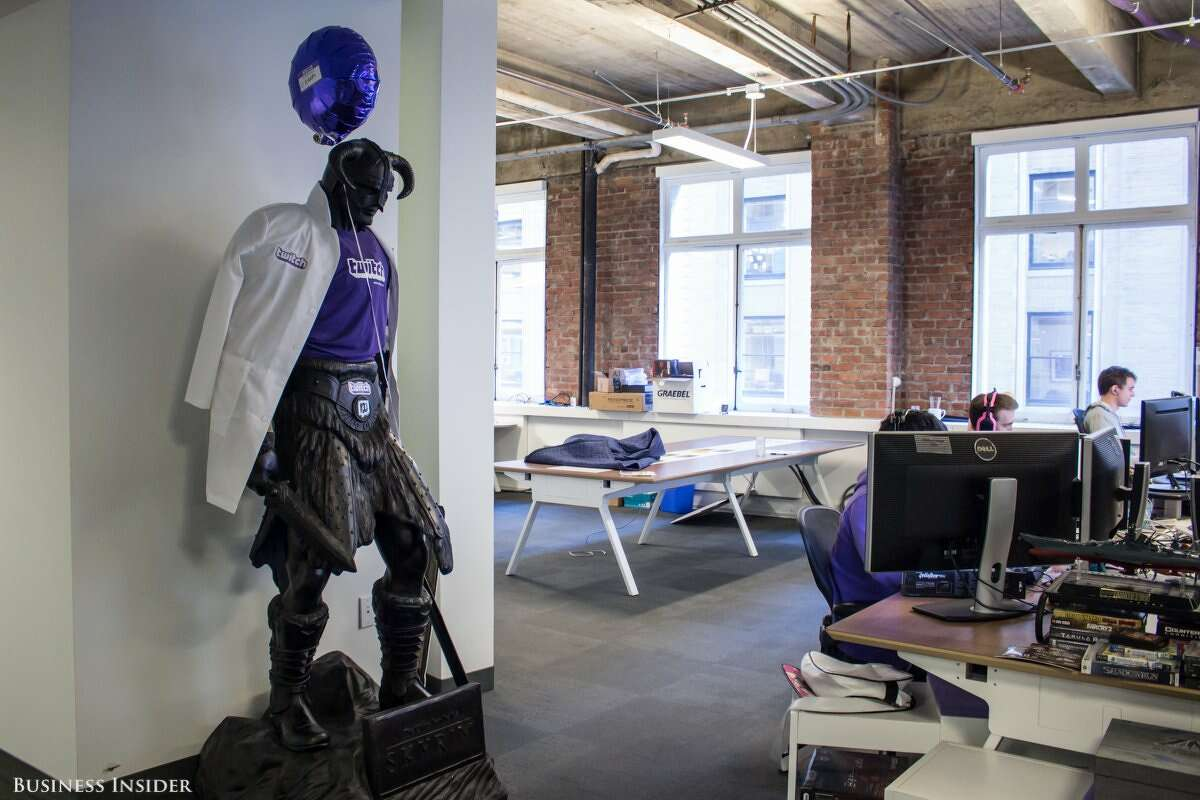 The Twitch headquarters in San Francisco's Financial District feels like another world.