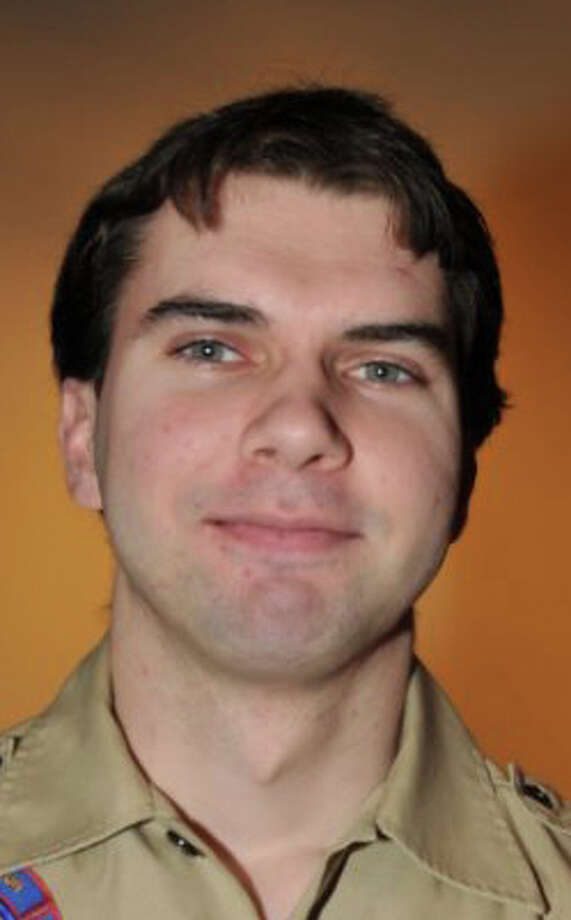 Matt Ferencz, a 27-year-old former Eagle Scout, has been named scoutmaster of Boy Scout Troop 36. Westport CT. March 2015. Photo: Fairfield Citizen/Contributed / Westport News