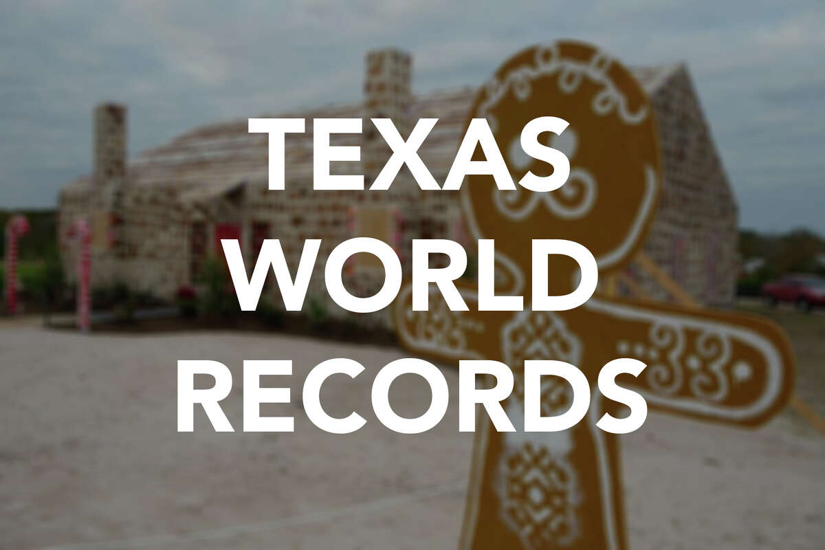 Scroll through the gallery to see some of the Guinness World Records achieved by Texans.