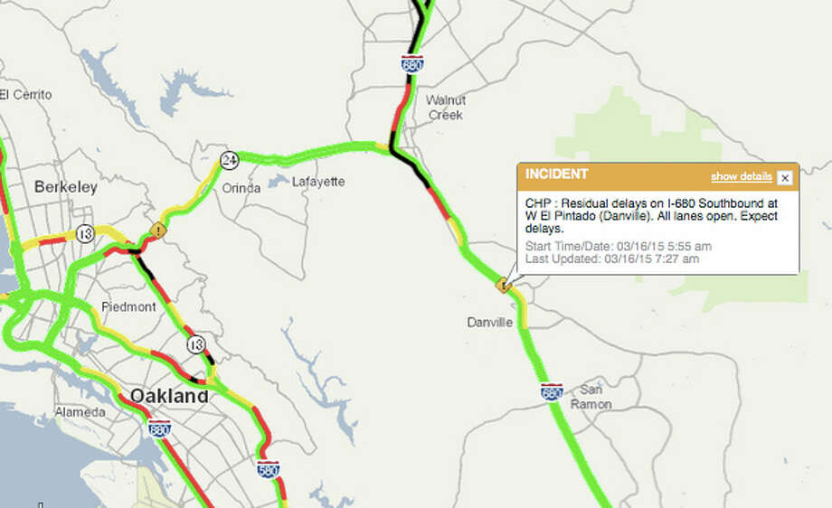 Pileup Snarls Traffic On I 680 In Danville Sfgate