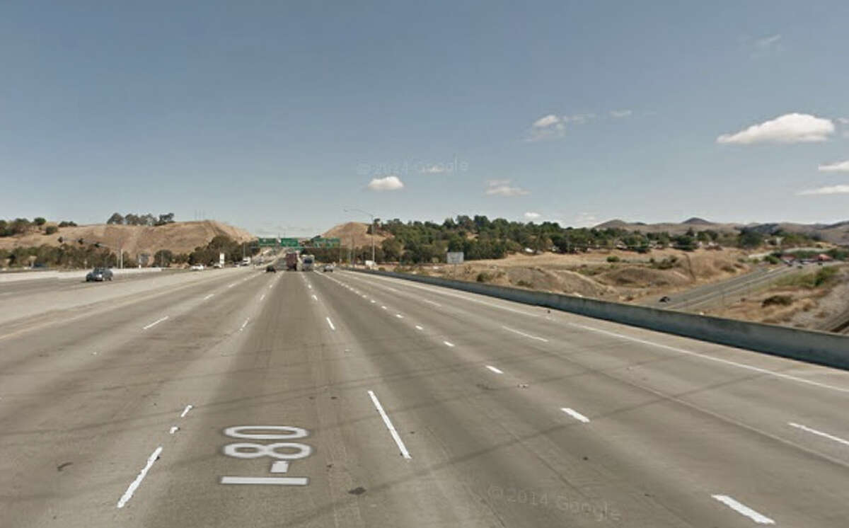 A drunk driver was arrested after hitting a fire truck on Interstate 80 near Willow Avenue.