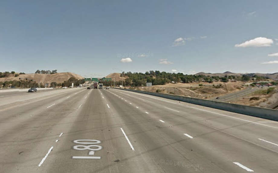 A drunk driver was arrested after hitting a fire truck on Interstate 80 near Willow Avenue. Photo: Google Maps