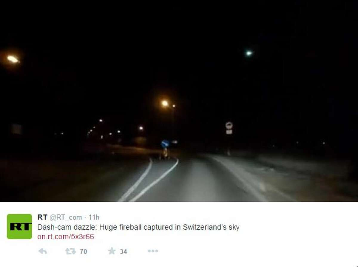 Witnesses in Switzerland reported seeing a