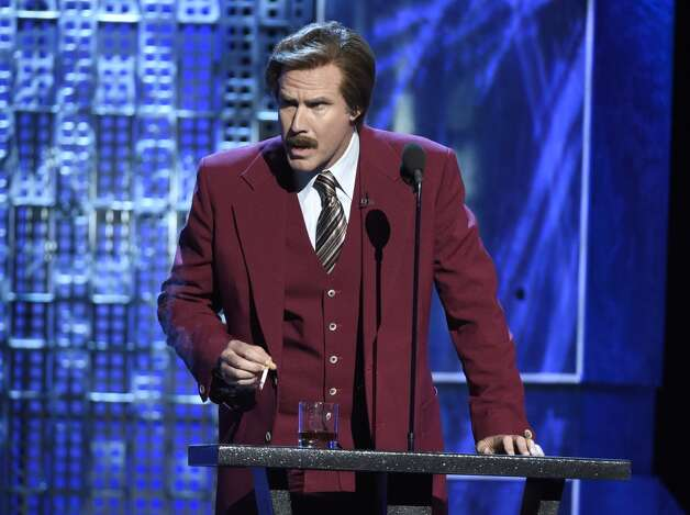 "Will Ferrell speaks in character as Ron Burgundy from ""The Anchorman"" films at the Comedy Central Roast of Justin Bieber at Sony Pictures Studios on Saturday, March 14, 2015, in Culver City, Calif. Photo: Chris Pizzello, Associated Press"