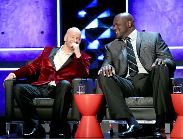 Comedian Jeff Ross(L) and TV personality/retired basketball player Shaquille O'Neal  onstage at The Comedy Central Roast of Justin Bieber at Sony Pictures Studios on March 14, 2015 in Los Angeles, California. The Comedy Central Roast of Justin Bieber will air on March 30, 2015 at 10:00 p.m. ET/PT. Photo: Christopher Polk, Getty Images