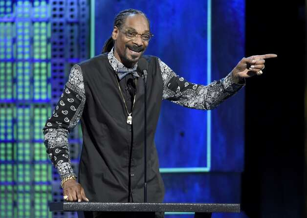 Snoop Dogg speaks at the Comedy Central Roast of Justin Bieber at Sony Pictures Studios on Saturday, March 14, 2015, in Culver City, Calif. Photo: Chris Pizzello, Associated Press