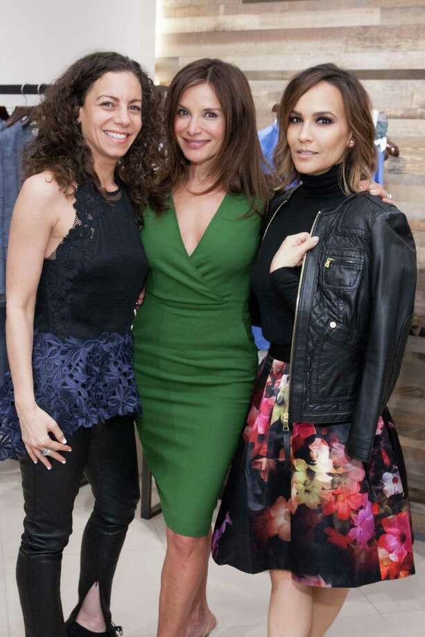 Marcy Karpowitz, Claudia Ross and Lora DuBain at the presentation of the Max Mara spring 2015 collection hosted by Saks Fifth Avenue and Claudia Ross on March 12, 2015. Photo: Drew Altizer Photography/SFWIRE, Drew Altizer Photography / © 2014 Drew Altizer