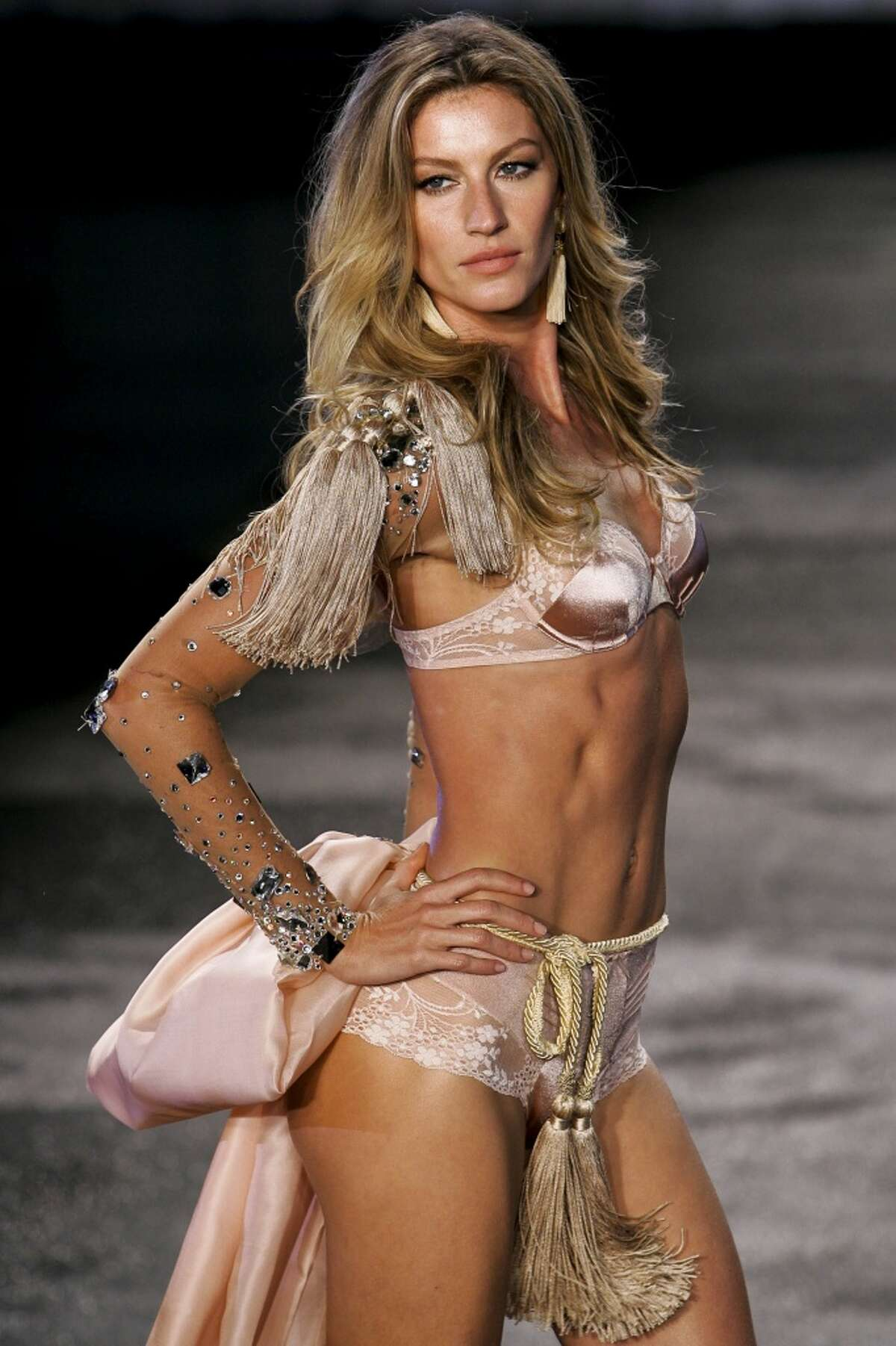 Top model Gisele Bundchen in the runway to show her collection of lingerie brand in partnership with Hope on May 12, 2011 in Sao Paulo, Brazil.