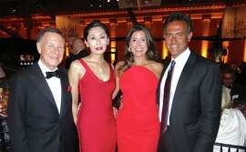 "Carl  (left) and Yurie Pascarella with Danielle and George Boutros at the ""High Style"" opener at the Legion of Honor."