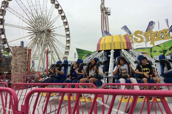 Warm weather finally arrived at the Houston Livestock Show and Rodeo midway just in time for families to enjoy spring break on March 16, 2015.