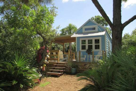This tiny 325-square- f00t house in St. George Island, Fla., also has a front porch perfect for (small) parties.