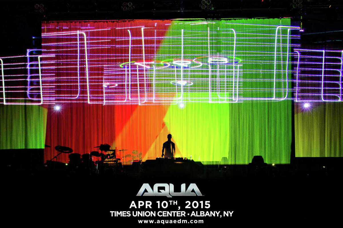 AQUA, three-dimensional experience with floor-to-ceiling water holograms, dancing LED water fountains and crows misting set to dance music and drumming, is scheduled for April 10, 2015 at the Times Union Center. (Courtesy of AQUA)