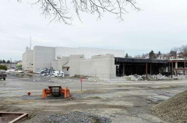 Demolition work continues on the remaining Latham Circle Mall buildings Monday, March 16, 2015, in Colonie, N.Y. (Will Waldron/Times Union) Photo: WW