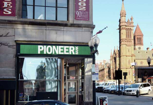 Entrance to the Pioneer Bank branch at 90 State Street Thursday March 12, 2015 in Albany, NY.  (John Carl D'Annibale / Times Union) Photo: John Carl D'Annibale / 00030794A