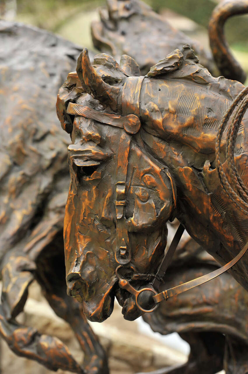 Detail from T. D. Kelsey's 3 ton bronze sculpture,