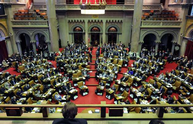 Legislative members take part in a joint legislative session with the Assembly and Senate to vote on members for the New York State Board of Regents on Tuesday, March 11, 2014 in Albany, NY.  (Paul Buckowski / Times Union) Photo: Paul Buckowski / 00026094A