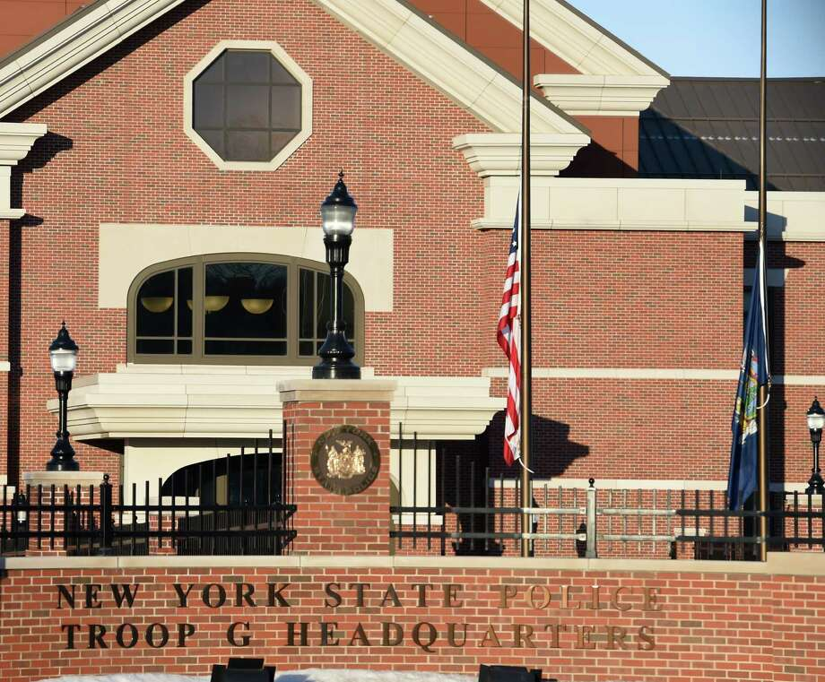 FILE PHOTO — State Police Troop G Headquarters Photo: SKIP DICKSTEIN / 00031046A