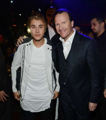 Justin Bieber and Neil Moffitt celebrate Justin Bieber's 21st birthday at OMNIA Nightclub, Las Vegas in Caesars Palace on March 14, 2015 in Las Vegas, Nevada. Photo: Denise Truscello, WireImage