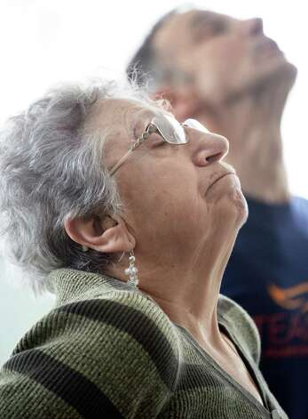 Loretta Brogna of Niskayuna during a Yoga for Parkinson's class at Honest Weight Food Co-op's community room Thursday March 5, 2015 in Albany, NY.  (John Carl D'Annibale / Times Union) Photo: John Carl D'Annibale / 10030886A