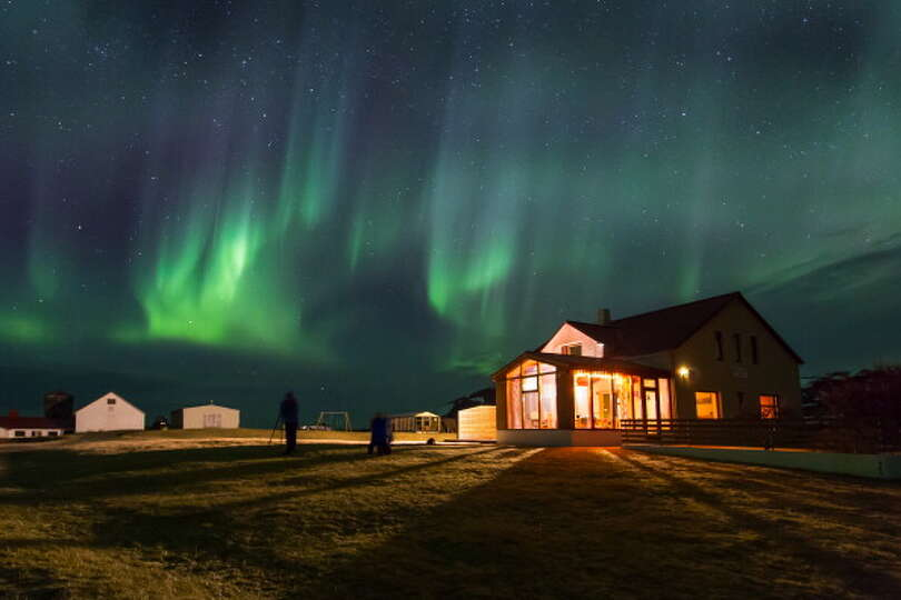 Borealis Iceland Aurora Borealis Over Iceland