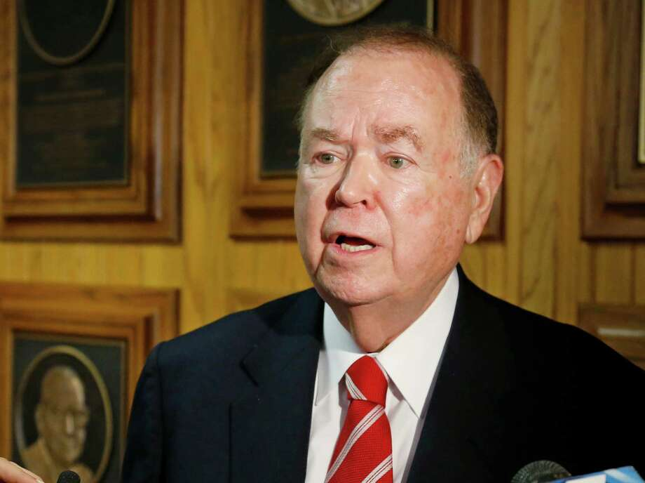 University of Oklahoma President David Boren overreacted when he expelled fraternity members for uttering a racist chant. Today, it is racist language is causing outrage, but tomorrow it could be a political position that someone finds offensive. Photo: Sue Ogrocki /Associated Press / AP