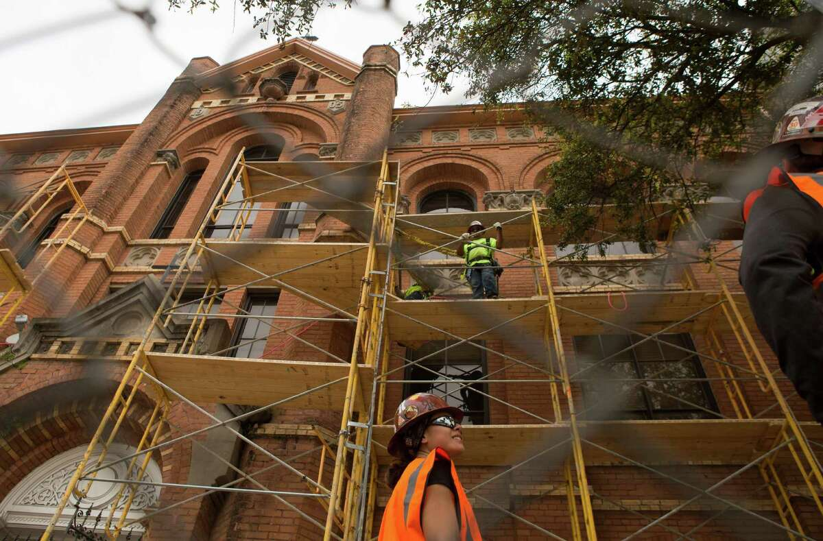 The Incarnate Word Academy is seen as crews prepare to tear it down, Tuesday, March 17, 2015, in Houston.