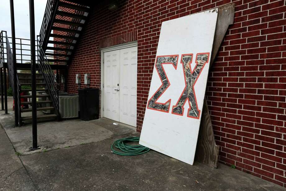 "The University of Houston has suspended the Sigma Chi fraternity after ""disturbing allegations of hazing within the fraternity,"" and results of an investigation have been provided to the district attorney's office, President Renu Khator said Tuesday, March 17, 2015, in Houston, Texas. Photo: Gary Coronado, Houston Chronicle / © 2015 Houston Chronicle"