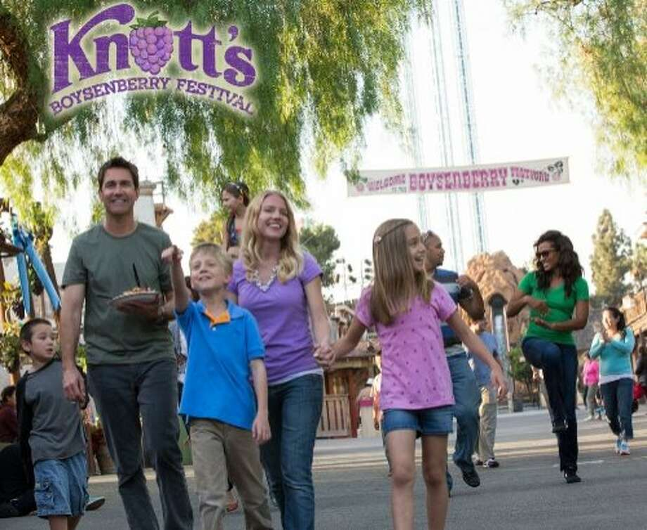 Knott's still-famous boysenberry preserves will star in the Boysenberry Festival in the theme park's Ghost Town, March 28-April 12. Celebrate Knott's delicious roots during the Boysenberry Festival, March 28 - April 12, in the theme park's historic Ghost Town. The 16-day and entertainment festival returns with an unforgettable lineup of exquisite Boysenberry Bites, dazzling entertainment, the Wine and Craft Brew Tasting Garden, and more farm fresh fun the whole family will love! From sun up to sun down, the festival features dueling fiddlers, Peanuts Party in the Park, Jammin' in the Dark (nighttime dance party), vine dancing, live music, and other live entertainment. The limited-time Festival is included with admission to Knott's Berry Farm. (PRNewsFoto/Knott's Berry Farm) Photo: Knott's Berry Farm