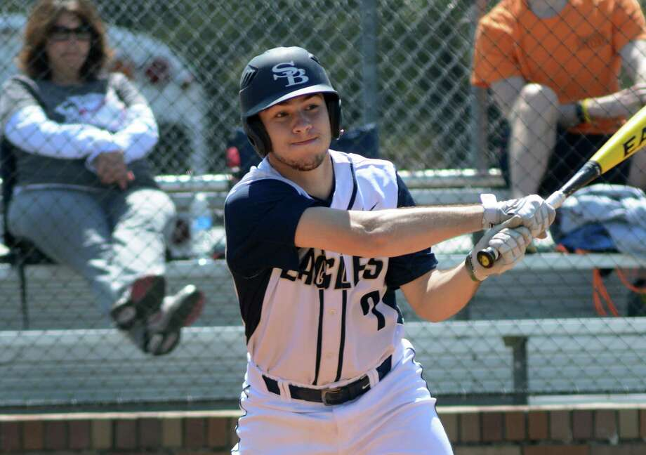 Second Baptist senior third baseman Jake Bedevian drives the ball against Cypress Christian during their game at Second Baptist School on March 14. Photo: Jerry Baker, Freelance