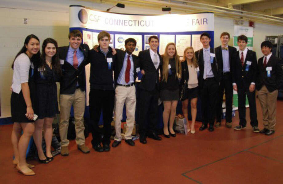 Greenwich High School students at the 2015 Connecticut Science & Engineering Fair at Quinnipiac University Photo: Contributed Photo / Greenwich Time